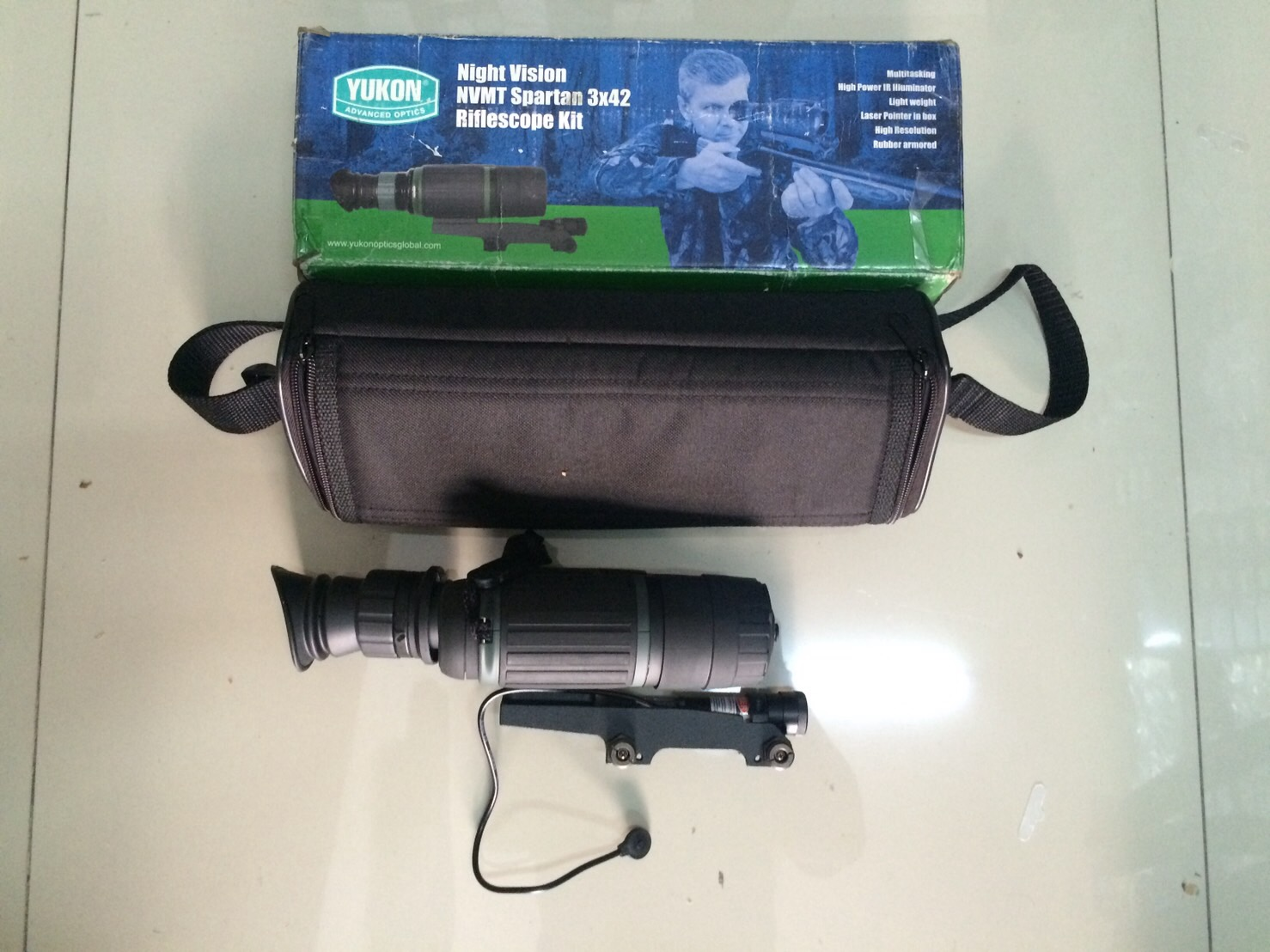 New..Yukon 3x42 NVMT Spartan Night Vision Riflescope Kit
