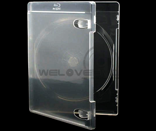 Single Clear Blu-Ray Cases with Blu-ray Logo (10 pcs)