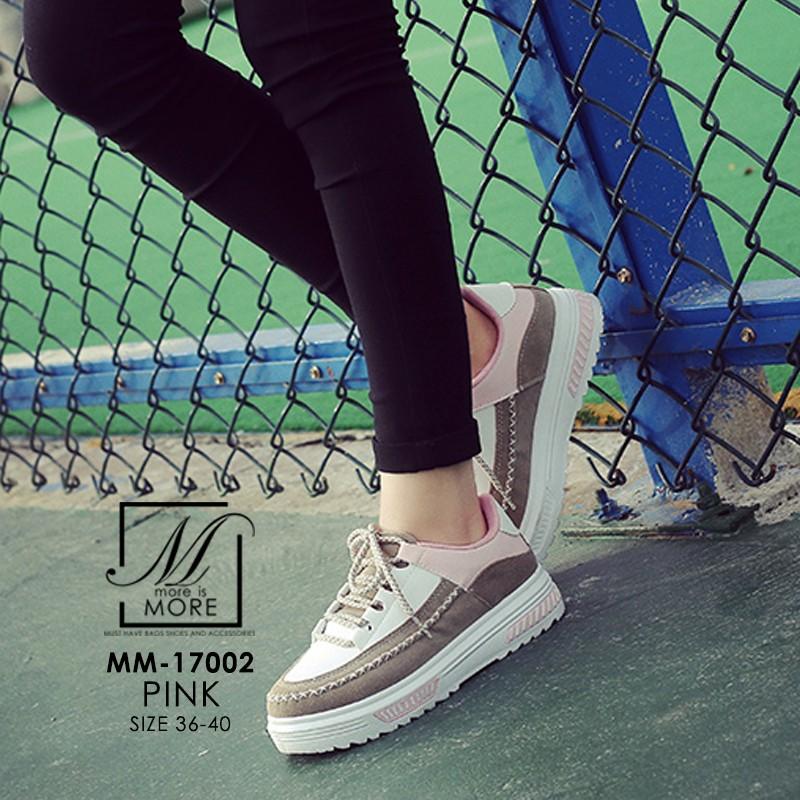 รองเท้าผ้าใบแฟชั่นสีชมพู korea style ดีไซน์เก๋ส์ (สีชมพู )