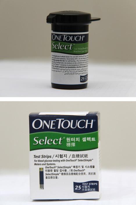 แผ่นตรวจน้ำตาล One Touch Select Simple แบบ 25 ชิ้น