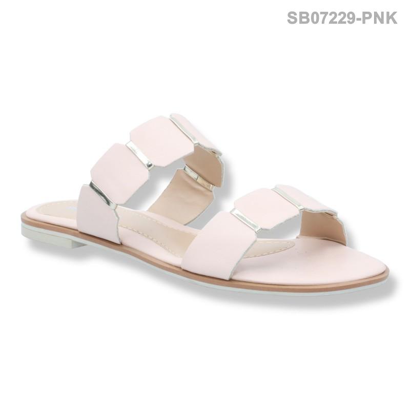 ลดล้างสต๊อก รองเท้าส้นแบน SB07229-PNK [สีชมพู]