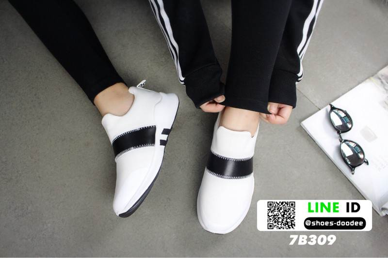 รองเท้าผ้าใบลายช้าง 7B309-WHI [สีขาว]