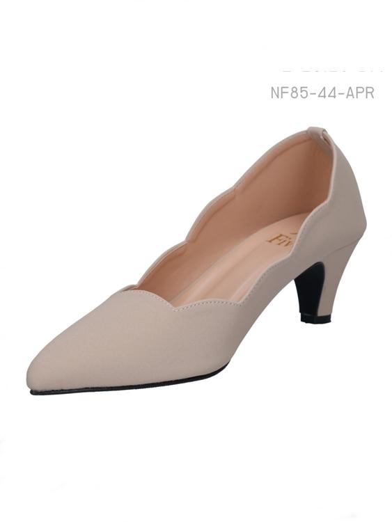 รองเท้าส้นสูง สไตส์เรียบหรู (สีแอปริคอล)