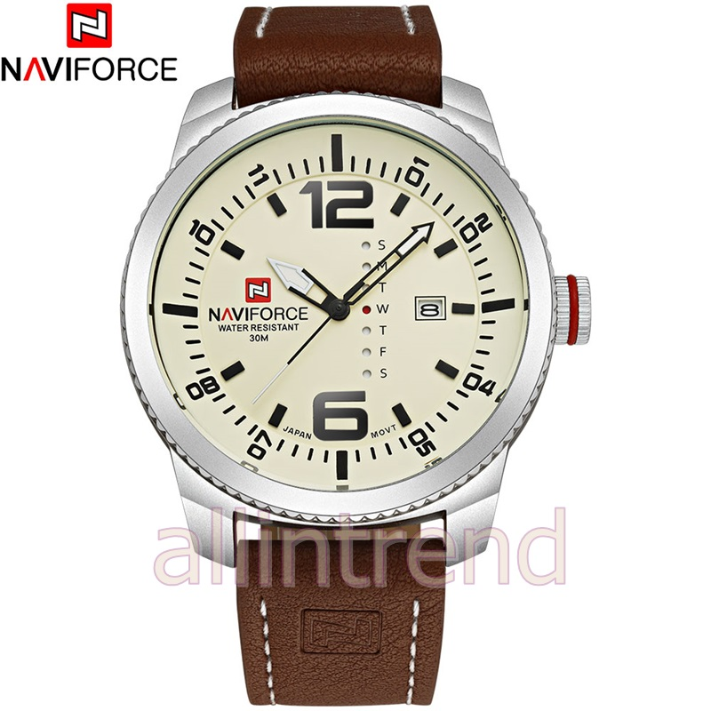 นาฬิกา Naviforce รุ่น NF9063M สีครีม/เงิน ของแท้ รับประกันศูนย์ 1 ปี ส่งพร้อมกล่อง และใบรับประกันศูนย์ ราคาถูกที่สุด