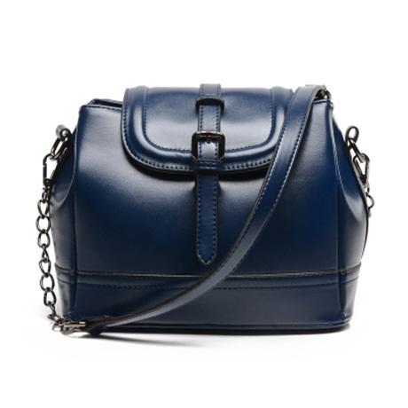 พร้อมส่งกระเป๋าถือและสะพายข้างแฟชั่นเกาหลี TIANCAI BAG รหัส N-224 สีน้ำเงิน