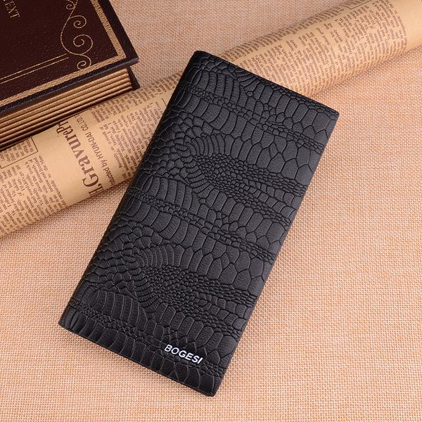 พร้อมส่ง กระเป๋าสตางค์นักธุรกิจผู้ชาย ใบยาว แฟชั่นเกาหลี ยี่ห้อ dandeli รหัส DA-381-37 สีดำ
