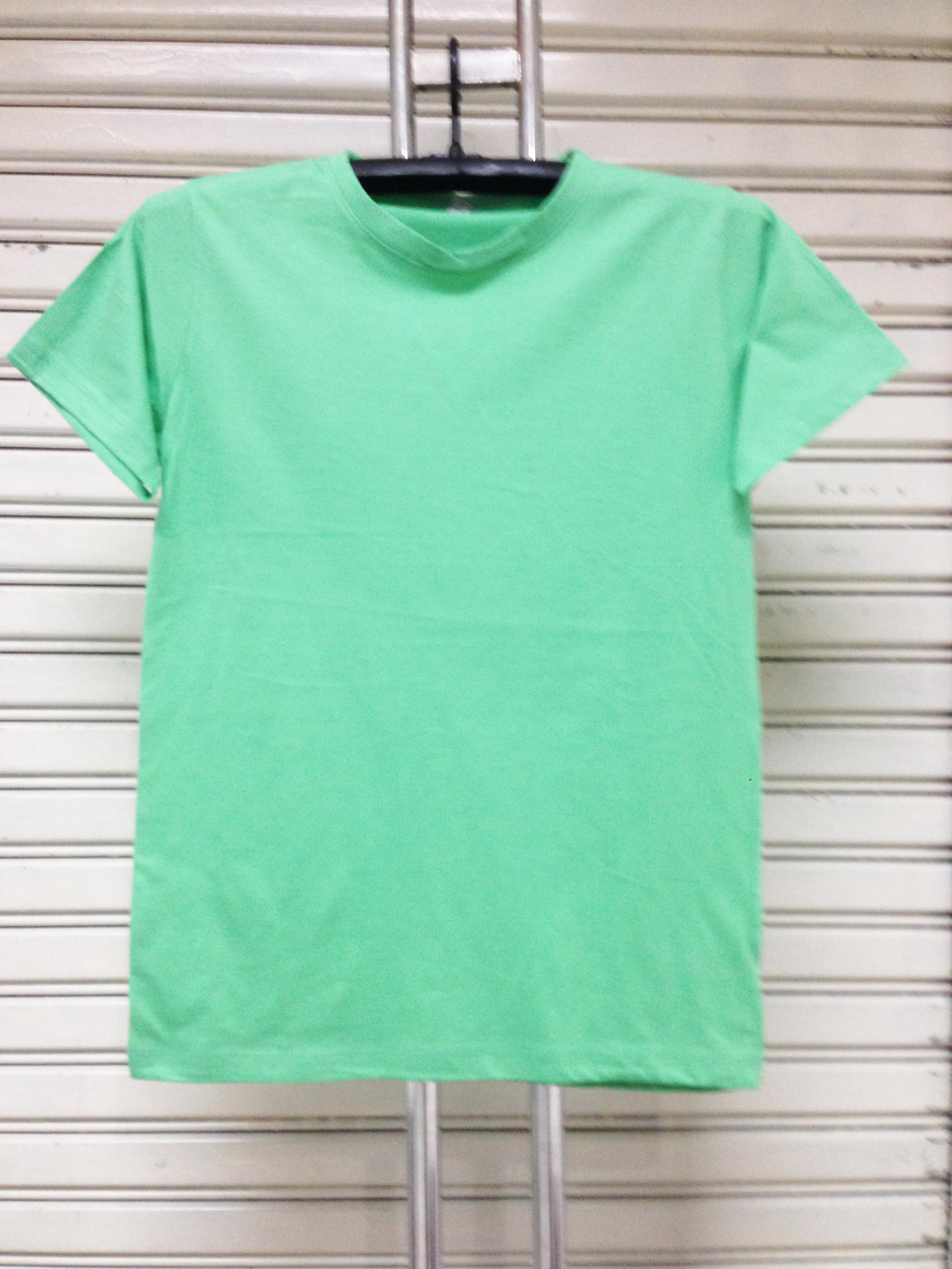 COTTON100% เบอร์32 เสื้อยืดแขนสั้น คอกลม สีเขียวมิ้น