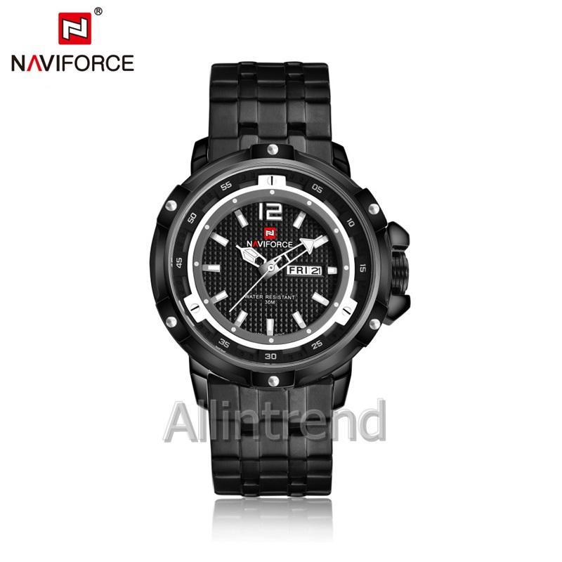 นาฬิกา Naviforce รุ่น NF9073M White Black นาฬิกาข้อมือสุภาพบุรุษ ของแท้ รับประกันศูนย์ 1 ปี ส่งพร้อมกล่อง และใบรับประกันศูนย์ ราคาถูกที่สุด
