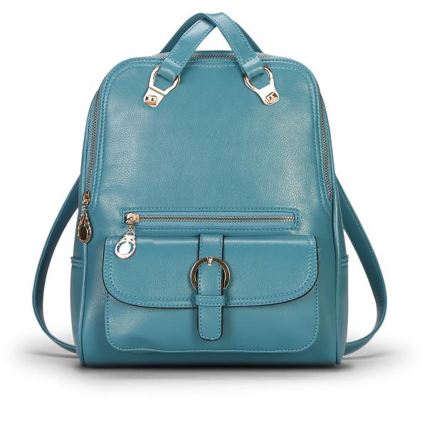 พร้อมส่ง กระเป๋าเป้สะพายหลัง และปรับสะพายข้างได้ ผู้หญิง แฟชั่นเกาหลี Sunny-612 สีฟ้า
