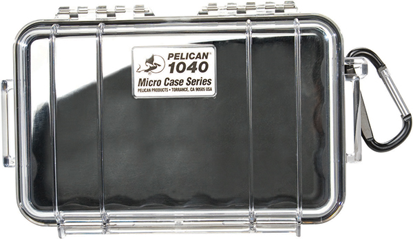 PELICAN™ 1040 MIRCOCASE, BLACK / CLEAR