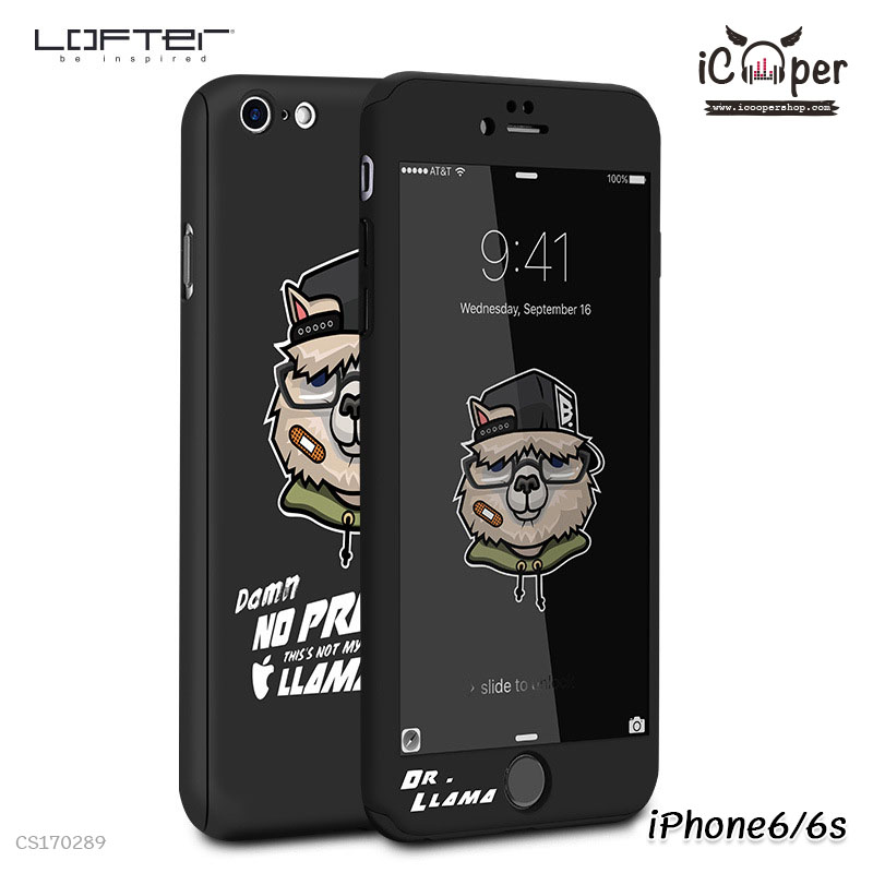 LOFTER Cartoon Full Cover - Dr. Llama (iPhone6/6s)