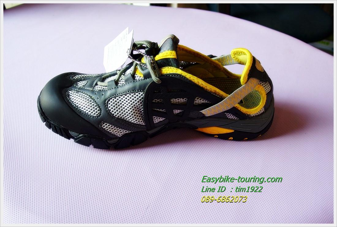 รองเท้า Easybike CFL / สืดำ-เทาแถบเหลือง จะลุยน้ำจะปั่น ปีนเขา