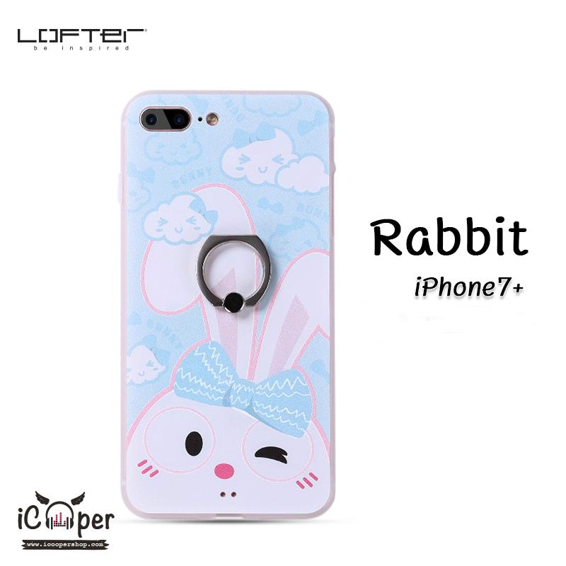 LOFTER iRing Cartoon Case #1 - Rabbit (iPhone7+)