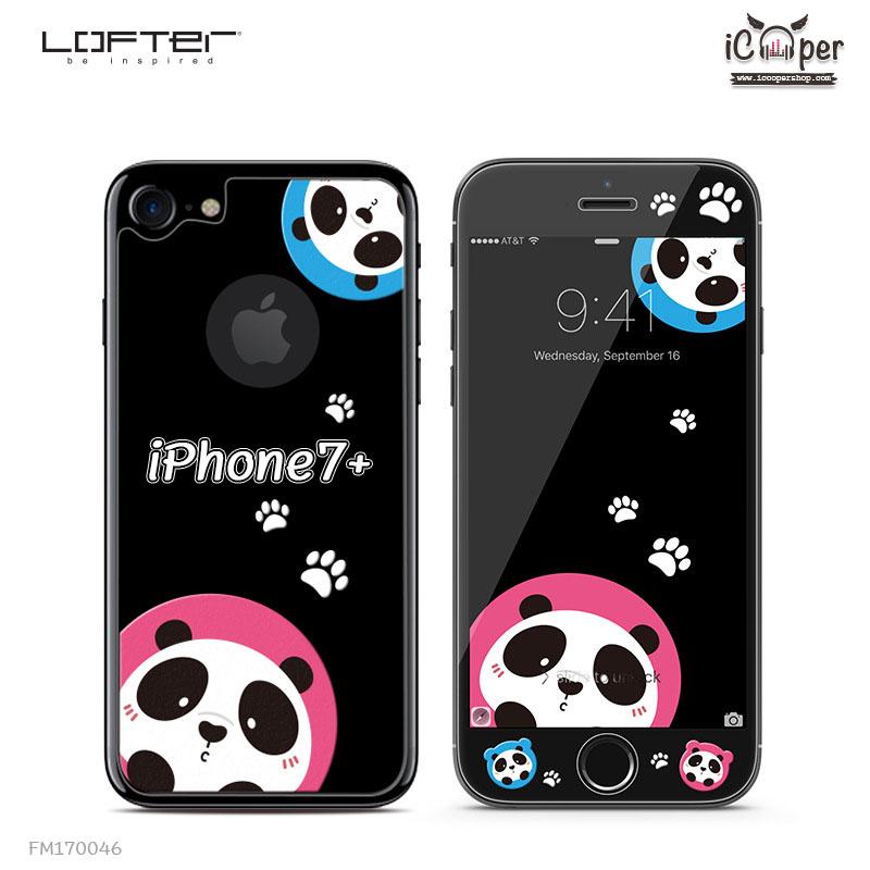 LOFTER Black Pets Full Cover - Panda (iPhone7+)