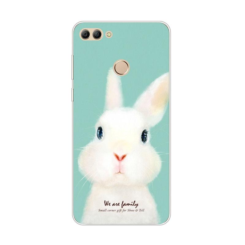 เคส huawei y9 2018 กระต่ายน้อยน่ารัก วัสดุtpuนิ่ม