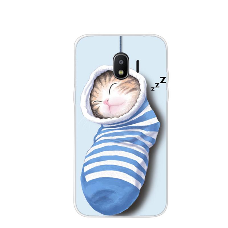 เคสซัมซุง j2 pro 2018 ลายลูกแมวในถุงเท้า วัสดุtpuนิ่ม