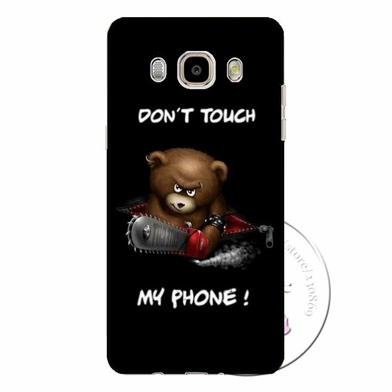 เคสซัมซุง j7 2016 เคสพลาสติก don't touch my phone หมีบราวน์