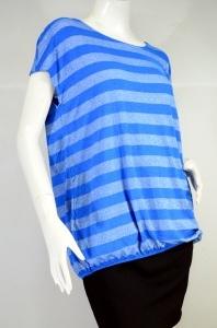 GEORGE เสื้อยืดลายทางสีฟ้า-สีเงิน
