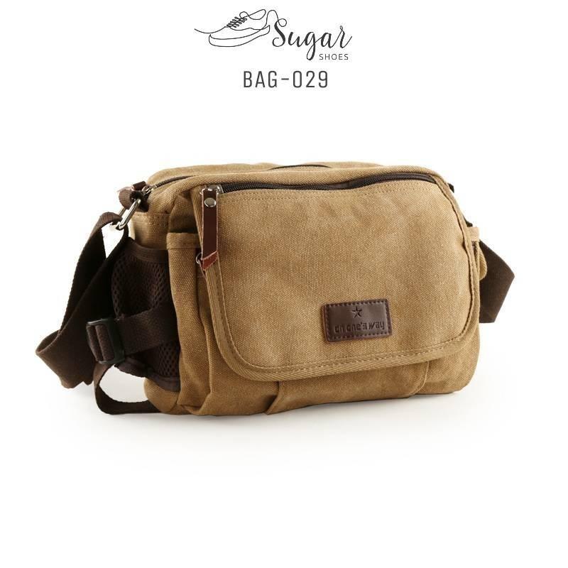 พร้อมส่ง กระเป๋าสะพายข้างผู้ชาย-BAG-029 [สีแทน]