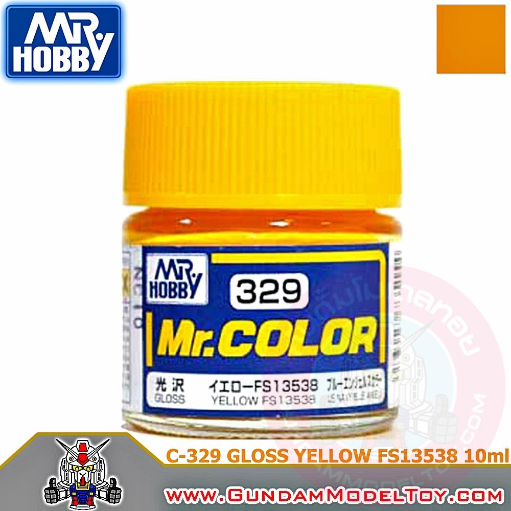 MR.COLOR C-329 GLOSS YELLOW FS13538 สีเหลืองเงา FS13538