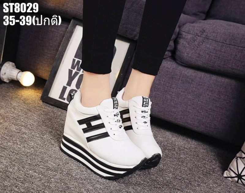 รองเท้าผ้าใบสีขาว ST8029-WHI