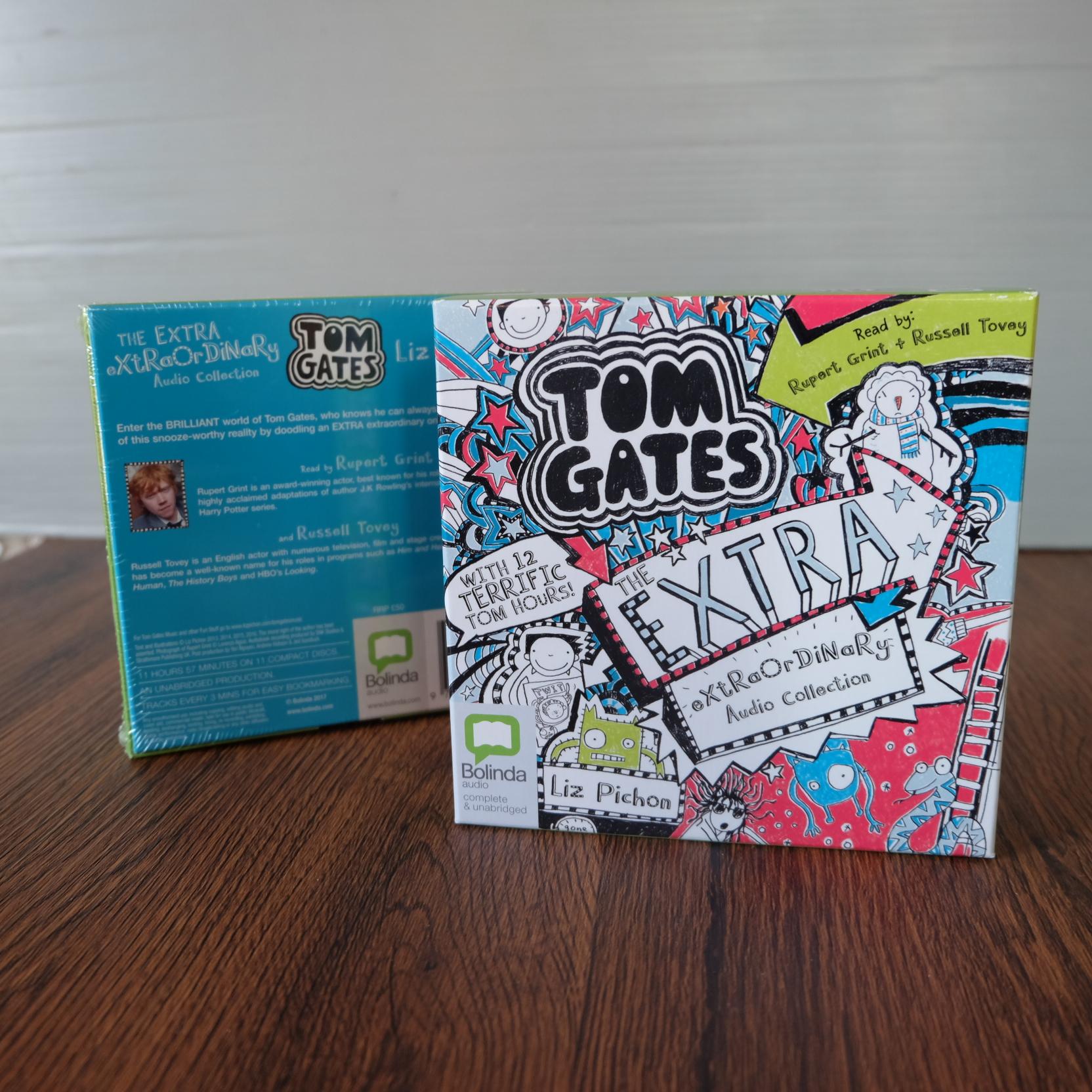 หนังสือเสียงภาษาอังกฤษ มือหนึ่ง สำหรับวัยเจ็บขวบขึ้นไป Tom Gates The Extra Extraordinary 12ชม.ในcd11แผ่น 1300รวมอีเอมเอส