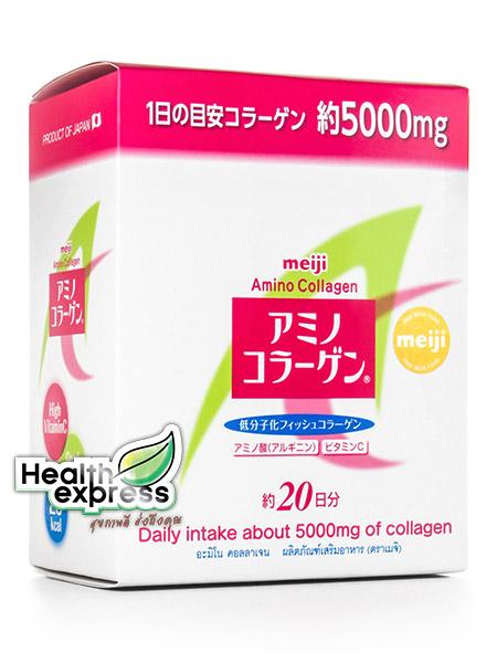 Meiji Amino Collagen 5000 มก. เมจิ อะมิโน คอลลาเจน ปริมาณสุทธิ 140 g. [แบบกล่อง Refill]