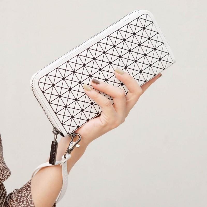 กระเป๋าตัง กระเป๋าเงินผู้หญิง BaoBaoบล็อกเล็ก โลโกสี่ด้าน [สีขาว ]
