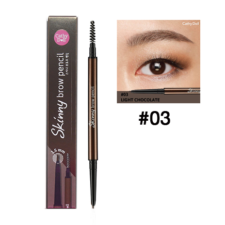 Cathy Doll Skinny Brow Pencil เบอร์ 03 สี Light Chocolate