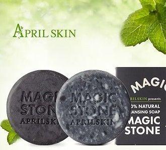 **** พร้อมส่ง **** APRIL SKIN Magic stone cleansing soap มี 2 สูตรให้เลือก
