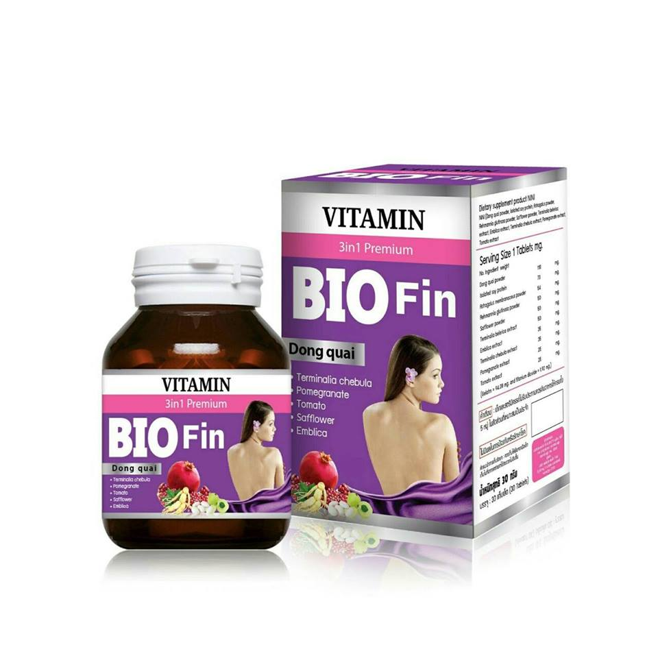BIO Fin VITAMIN 3in1 ไบโอ ฟิน วิตามิน บรรจุ 30 Tablets.