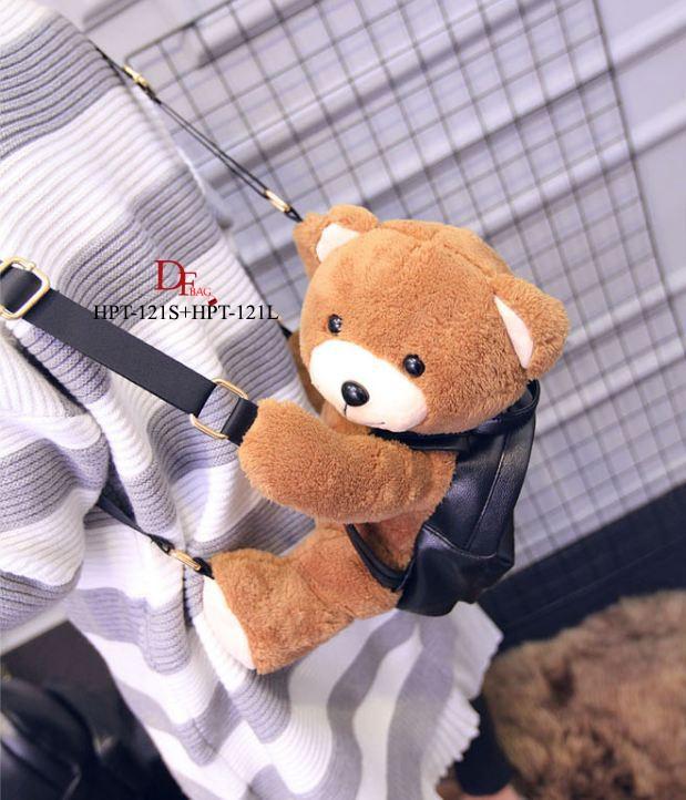 กระเป๋าเป้ตุ๊กตานำเข้าสไตส์ MOSCHINO PLUSH TEDDY BEAR BACKPACK Size S [สีดำ ]