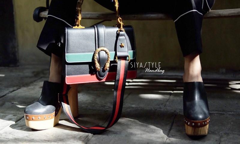 กระเป๋าสะพายแฟชั่น กระเป๋าสะพายข้างผู้หญิง Style กุชชี่ [สีดำ]