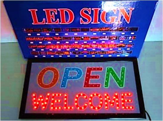ป้ายไฟ OPEN WELCOME LED