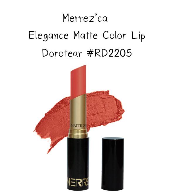 Merrez'Ca Elegance Matte Color Lip #RD2205 Dorotear