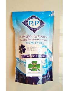 คอลลาเจนผง 100% P&Pคอลลาเจนไฮโดรไลเซท Collagen powder 100g. คอลลาเจนจากปลา ผลิตภัณฑ์เสริมอาหาร ไม่ใช้วัตถุเจือปนอาหาร ชงดื่มละลายในน้ำเย็น
