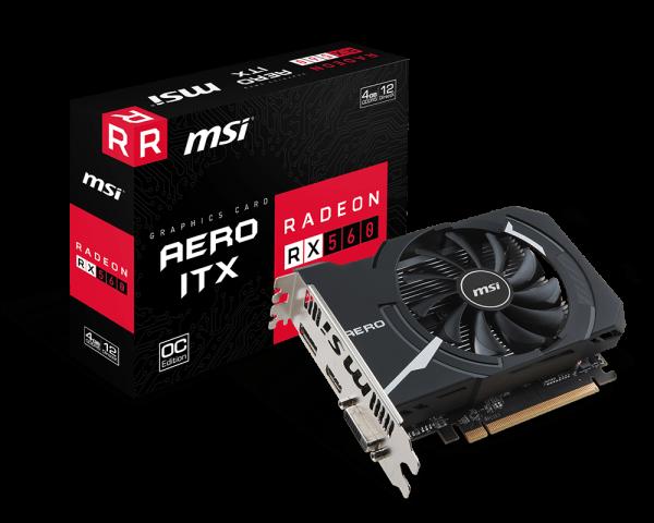 MSI RX560 AERO ITX OC 4GB GDDR5 128BIT
