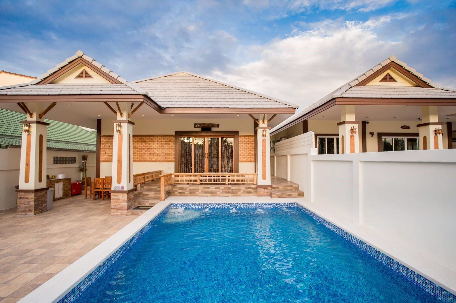 บ้านทอประกาย พูลวิลล่า หัวหิน(Villa N) 4 ห้องนอน 3 ห้องน้ำ