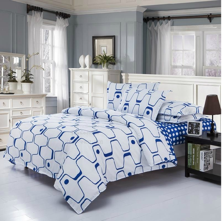 ผ้าปูที่นอน BlueWhite -3