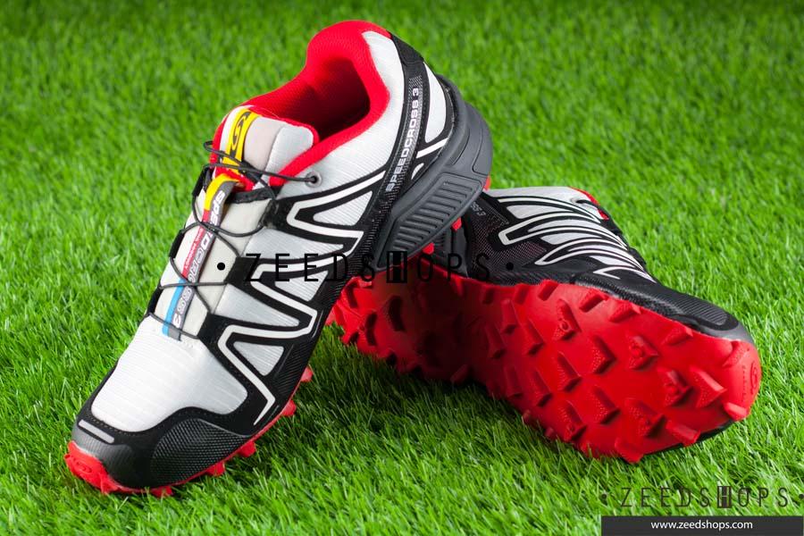 รองเท้า salomon speedcross 3 CS เทา-แดง