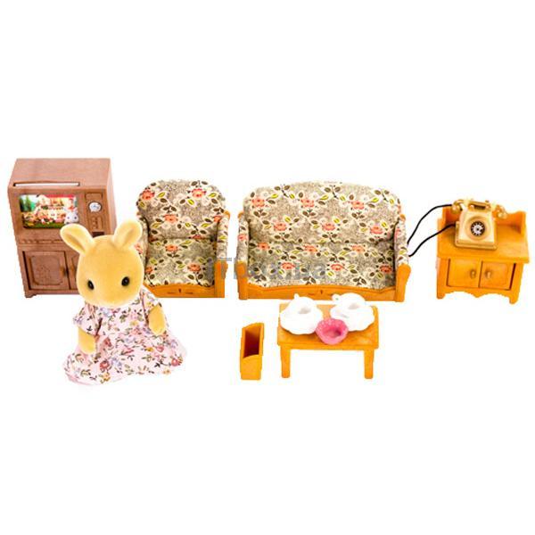 sylvanian families living room set. Sylvanian Families 1702 Country Living Room Set with Rabbit Mother