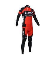 ชุดปั่นจักรยานแขนยาว BMC สีแดง เป้าเจล (แอดไลน์ @pinpinbike ใส่ @ ข้างหน้าด้วยนะคะ)
