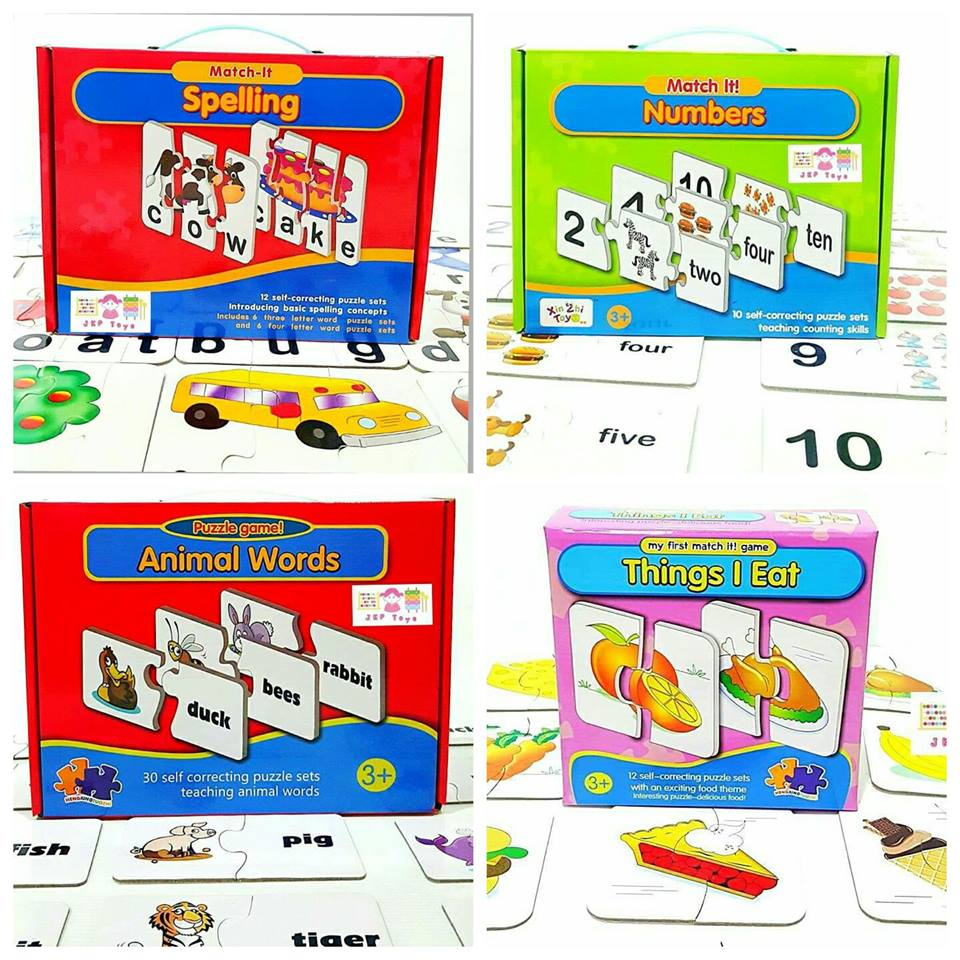 จัดเซท 4 กล่อง // Match it Jigsaw 4 หมวด