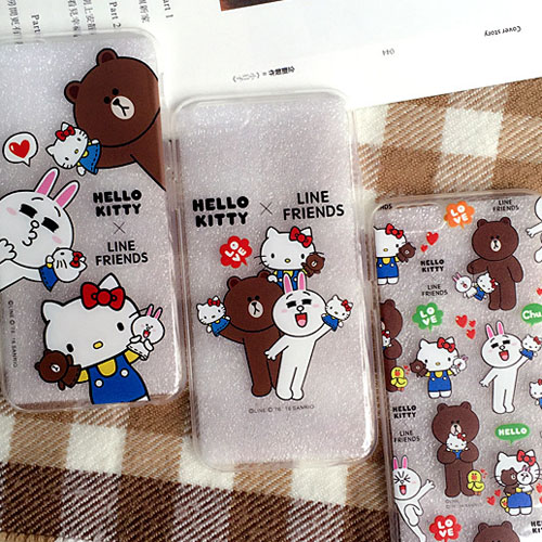 เคสยาง 1.2mm Kitty x Line Friends 4 แบบ - เคส iPhone 6 Plus / 6S Plus