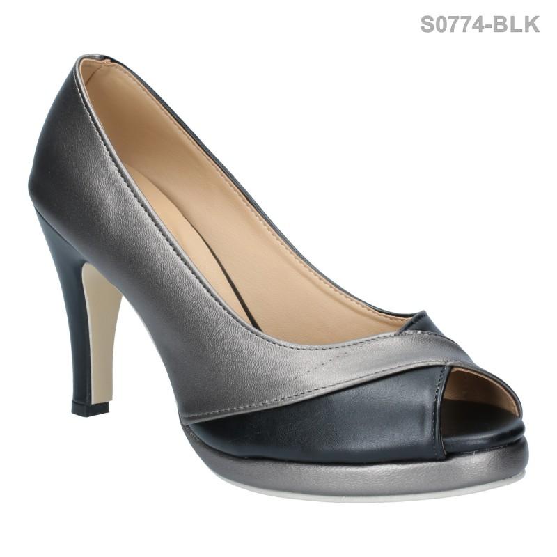 รองเท้าส้นสูง เรียบหรู ใส่แล้วดูเพรียว (สีดำ )
