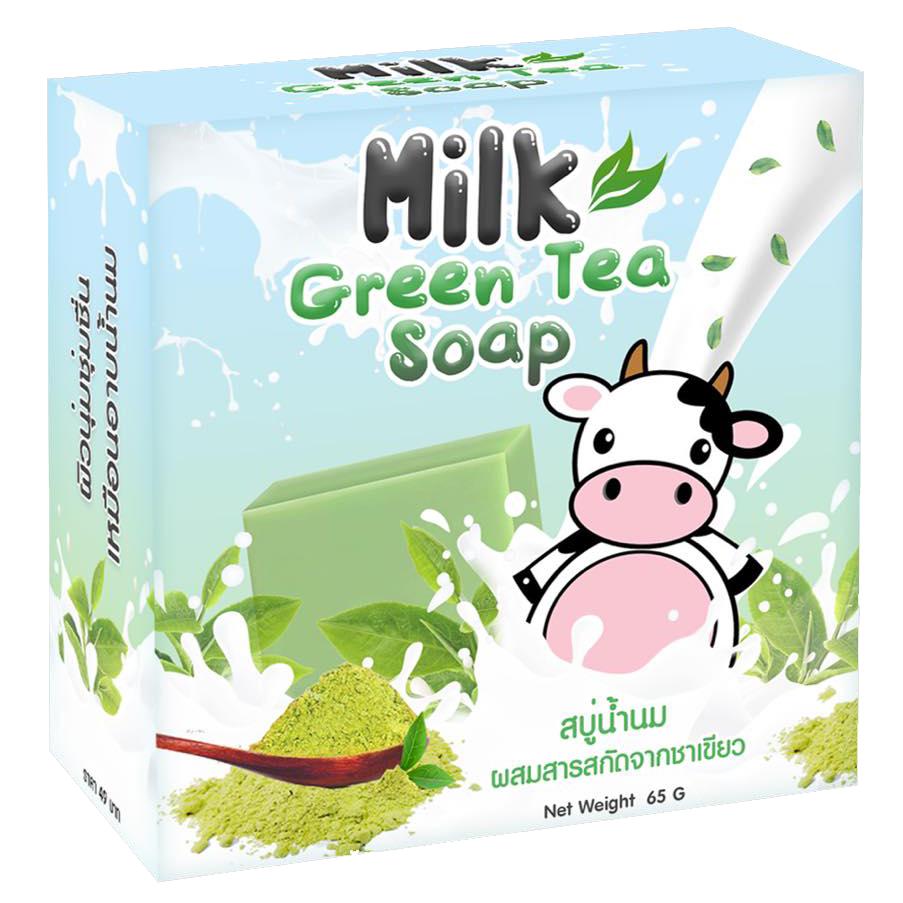 สบู่น้ำนมชาเขียว Milk Green Tea Soap