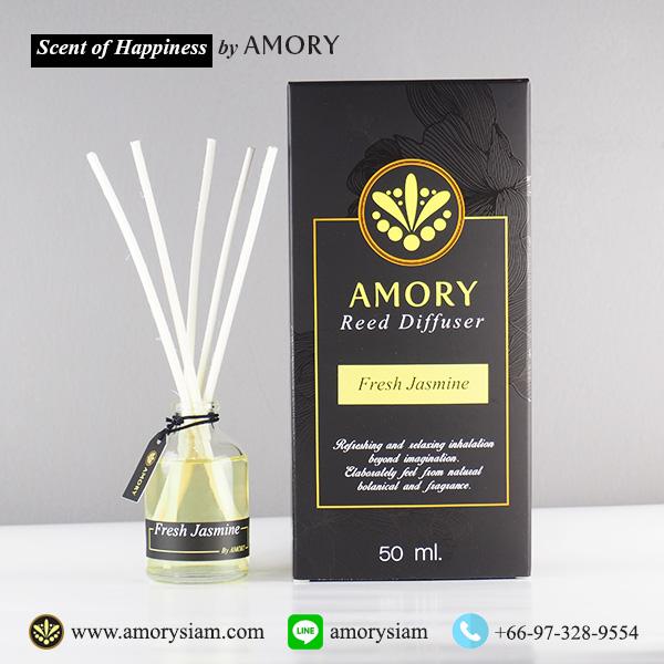กลิ่นอโรม่า Aroma Scent 50 ml. ก้านไม้หอม Aroma Reed Diffuser