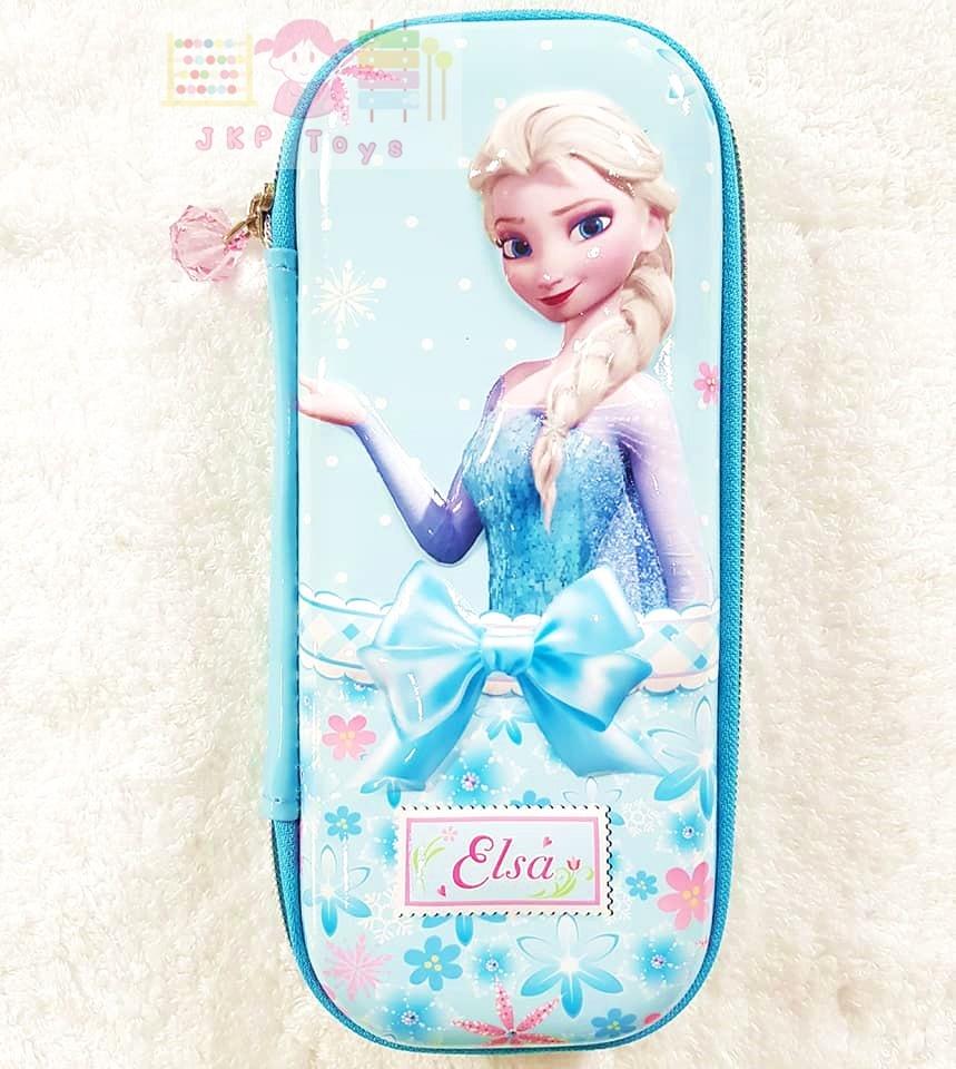 กล่องดินสอลาย Frozen เเบบซิป ลายเอลซ่า