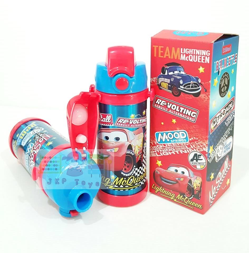 กระติกน้ำเก็บความร้อน-เย็น เเบบยกดื่ม 350ml. Cars