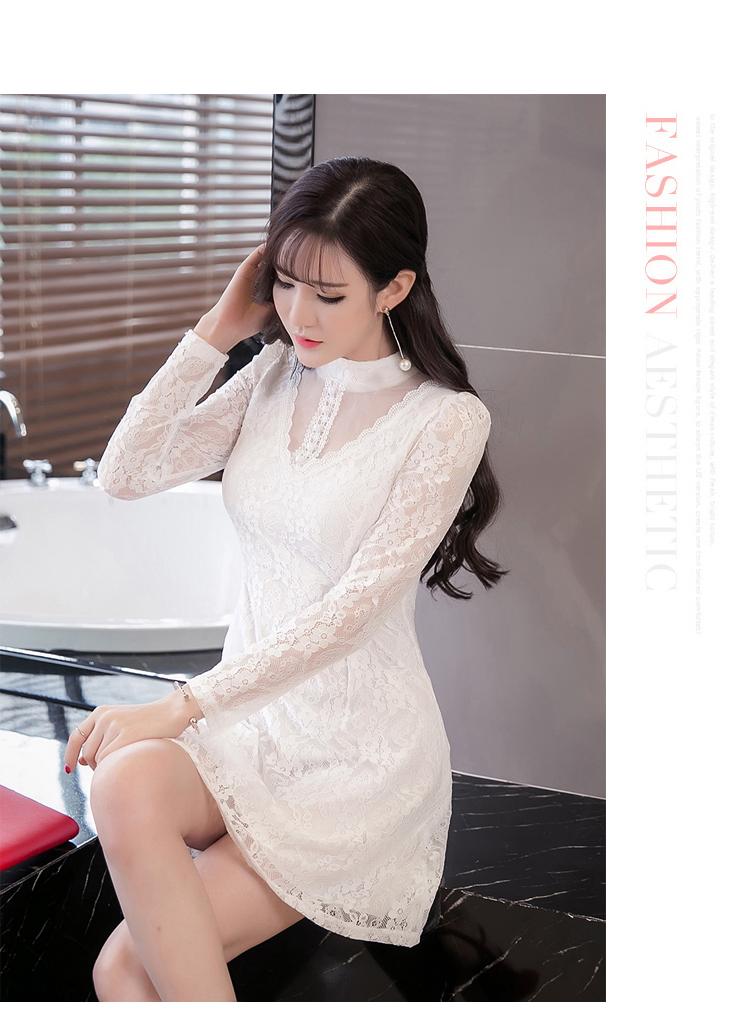 ชุดเดรสลูกไม้สีขาวสวยๆ